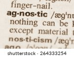 Small photo of Definition of word agnostic in dictionary