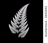 Fractal Design Of A Fern Leaf