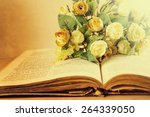 Vintage Roses On An Old Book. ...