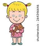 vector illustration of girl... | Shutterstock .eps vector #264346646