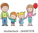 vector illustration of a family ...   Shutterstock .eps vector #264347378