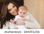 portrait of happy young... | Shutterstock . vector #264351236