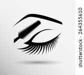 eye closeup mascara model... | Shutterstock .eps vector #264355610