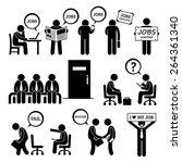 man looking for job employment... | Shutterstock .eps vector #264361340
