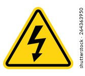 illustration of high voltage... | Shutterstock .eps vector #264363950