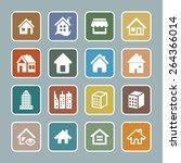 estate icons | Shutterstock .eps vector #264366014
