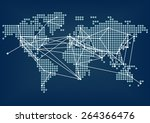 global network connectivity... | Shutterstock .eps vector #264366476