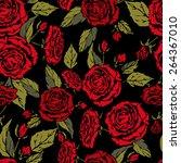 seamless floral pattern....   Shutterstock .eps vector #264367010