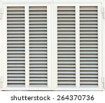 window with white shutters.... | Shutterstock . vector #264370736