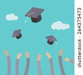 concept of education. graduates ... | Shutterstock .eps vector #264375473