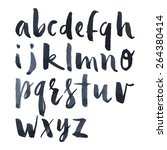 english alphabet watercolor... | Shutterstock .eps vector #264380414