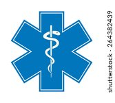 emergency star   medical symbol ... | Shutterstock .eps vector #264382439