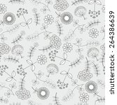 seamless floral background | Shutterstock .eps vector #264386639