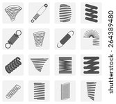 monochrome icon set with springs | Shutterstock .eps vector #264389480