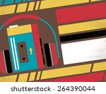 retro styled club flyer... | Shutterstock .eps vector #264390044