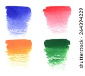 set of hand drawn colorful... | Shutterstock .eps vector #264394229
