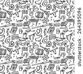 wild west hand drawn seamless | Shutterstock .eps vector #264395096