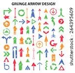 grunge arrows design on white...