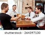 best beer in the city. waiter... | Shutterstock . vector #264397130