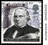 Small photo of UNITED KINGDOM - CIRCA 1995: A used British Postage stamp depicting an image of social reformer and postal administrator Sir Rowland Hill, circa 1995.