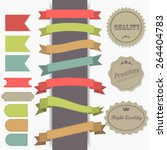 set of retro ribbons and labels.... | Shutterstock .eps vector #264404783