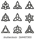 celtic knots used for... | Shutterstock .eps vector #264407303
