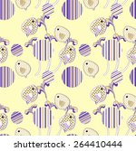 vector seamless pattern with... | Shutterstock .eps vector #264410444