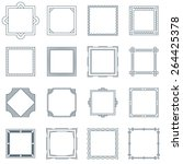 collection of 16 square... | Shutterstock .eps vector #264425378