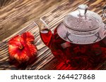 Hibiscus Tea In Transparent...