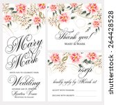 wedding invitation | Shutterstock .eps vector #264428528