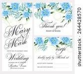 wedding invitation | Shutterstock .eps vector #264428570