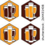 vector set coaster with... | Shutterstock .eps vector #264431408