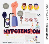 hypotension with infographic... | Shutterstock .eps vector #264436730