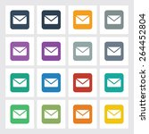 very useful flat icon of mail...