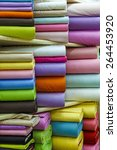 Rolls Of Colored Fabrics