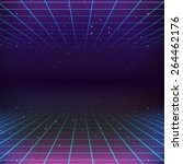80s retro sci fi background | Shutterstock .eps vector #264462176