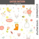 cute funny seamless pattern... | Shutterstock .eps vector #264464210