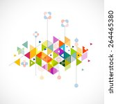 abstract colorful and creative... | Shutterstock .eps vector #264465380