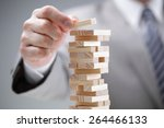 planning  risk and strategy in... | Shutterstock . vector #264466133