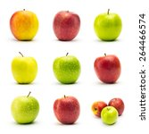 Apple Varieties With Dew Drops...