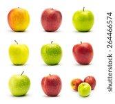 Apple Varieties With Dew Drops...