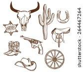 Hand Drawn Wild West Western...