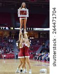 Small photo of PHILADELPHIA - MARCH 25: The Temple University cheerleaders perform during the NIT quarterfinal basketball game March 25, 2015 in Philadelphia.