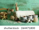 composition of spa treatment on ... | Shutterstock . vector #264471800