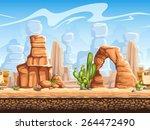 seamless horizontal background... | Shutterstock .eps vector #264472490