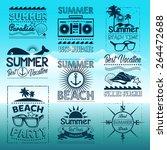 vintage summer typography... | Shutterstock .eps vector #264472688