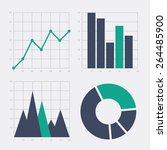 business chart elements. set of ...   Shutterstock .eps vector #264485900