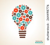 light bulb with gears pattern.... | Shutterstock .eps vector #264498776