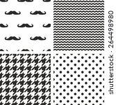 tile vector black and white... | Shutterstock .eps vector #264498980