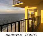 Beach Condo Balcony, Gulf Shores, Alabama